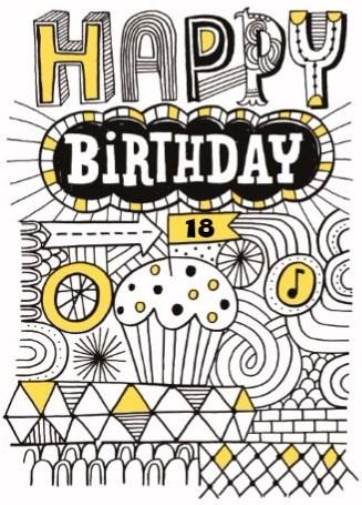 Verjaardagskaart leeftijden - verjaardag-leeftijden-happy-birthday