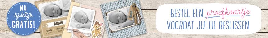 Geboortekaartjes met je eigen foto