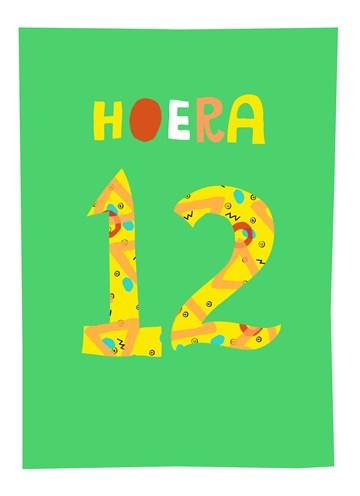 - Verjaardagskaart-12-hoera-jongen