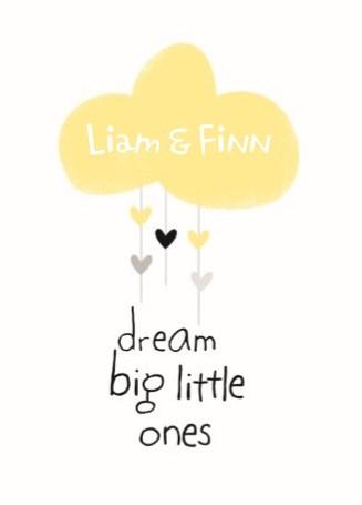Geboortekaartje - dream-big-little-ones