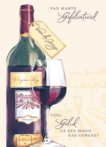 Zakelijke verjaardagskaart - van-harte-gefeliciteerd-met-wijn