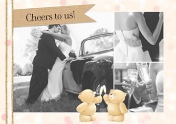 - huwelijk-fotokaart-bedankt-forever-friends-cheers-to-us