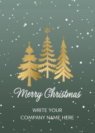 - Kerstkaart-zakelijk-Gouden-kerstbomen-Aanpasbare-tekst