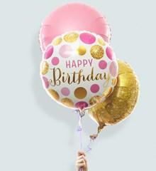 Ballonnentros Verjaardag Glitter