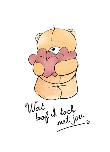 Bedwelming Kaarten Liefde / Vriendschap - Love you | Hallmark #DD43