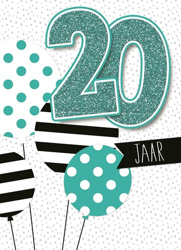 Verjaardagskaart leeftijden - verjaardag-leeftijden-ballonnen-20