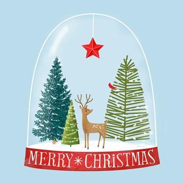 Kerstkaart - hallmark-kerstkaart-met-een-snowglobe