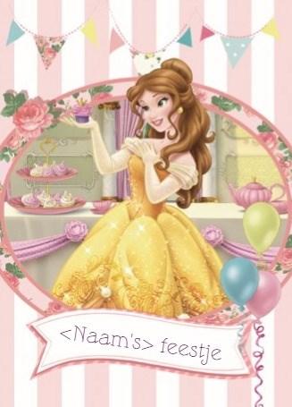 Disney kaart - disney-princess-uitnodiging