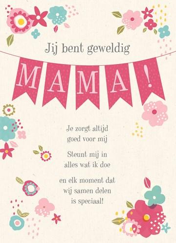 Fabulous Moederdag Klassiek Een Katje Voor Moeder Lieve Tekst Verjaardag @UC81