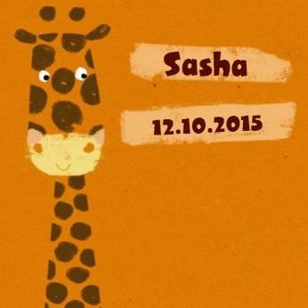 - oranje-giraffe-op-geboortekaart