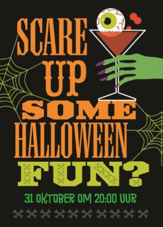 Halloween kaart - scare-up-some-halloween-fun