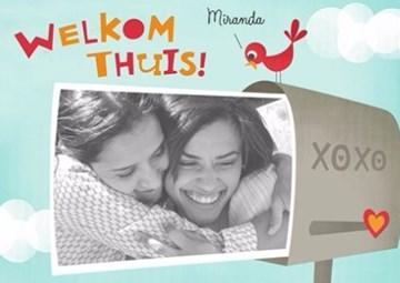 Reizen kaart - fotokaart-welkom-thuis-xoxo