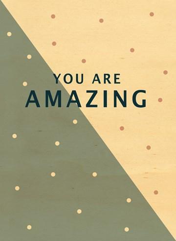 Succes / Goed gedaan kaart - houten-kaart-you-are-amazing