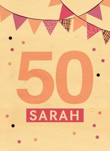 - houten-kaart-sarah-50-jaar-met-slingers