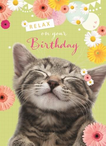 Verjaardagskaart vrouw - relax-on-your-birthday