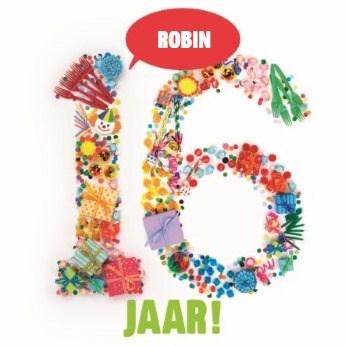 Verjaardagskaart leeftijden - verjaardag-leeftijden-zestien-jaar