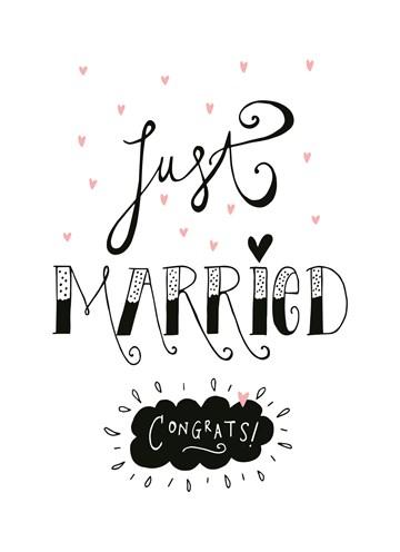 New Pas getrouwd? Feliciteer het bruidspaar met een huwelijkskaart @KX32