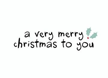 Kerstkaart - hallmark-kerstkaart-a-very-merry-christmas