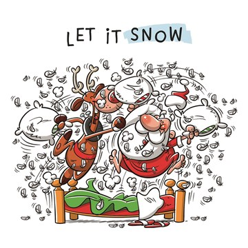 Kerstkaart - Kerstkaart-let-it-snow