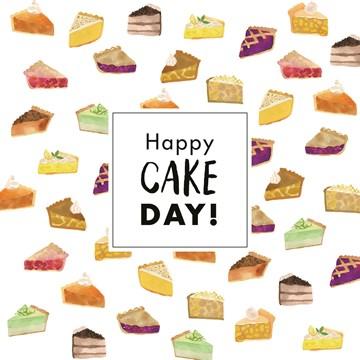 - zoete-kaart-met-stukjes-taart-en-cake-erop-happy-cake-day