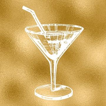 - cocktailglas-gouden-achtergrond