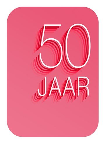 - Verjaardagskaart-50-jaar-roze-rood