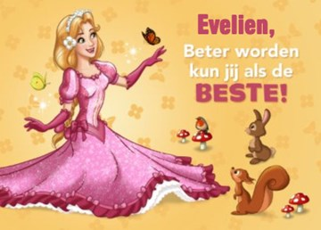 Sprookjesboom kaart - beterschap-van-sprookjesboom-prinses