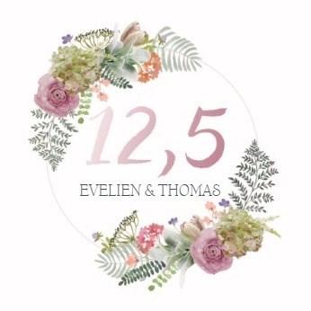 Huwelijkskaart - botanical-kaart-echtvereniging-koperen-jaar-huwelijksjubileum