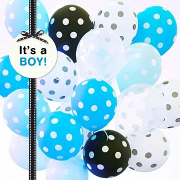 Geboortekaartje - tros-ballonnen-its-a-boy