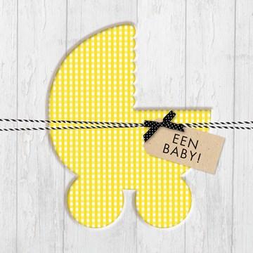 - gele-kinderwagen-een-baby