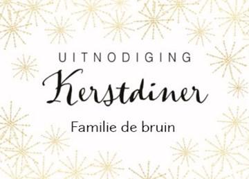 Kerstkaart - kerstkaart-uitnodiging-kerstdiner