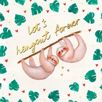 valentijnskaart - Valentijnskaart-vriendschap-Lets-hangout-forever