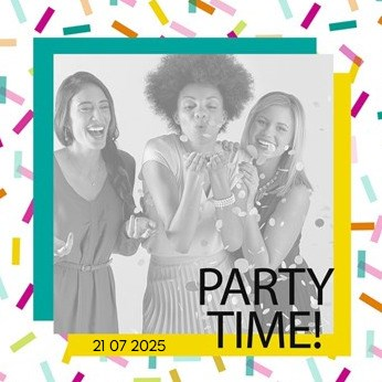 - feest-party-time-fotokaart