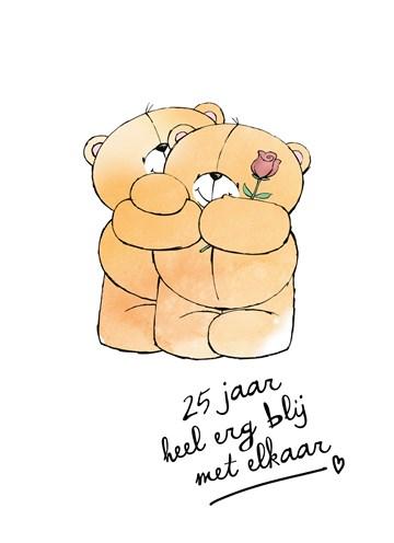 Huwelijkskaart - Huwelijkskaart-al-25-jaar-heel-erg-blij-met-elkaar-forever-friends