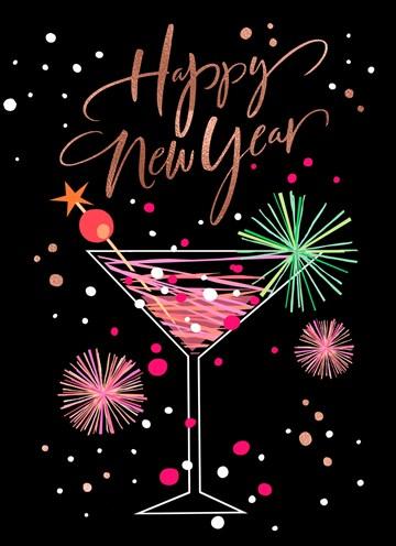 - nieuwjaarskaart-klassiek-cocktailglas-happy-new-year