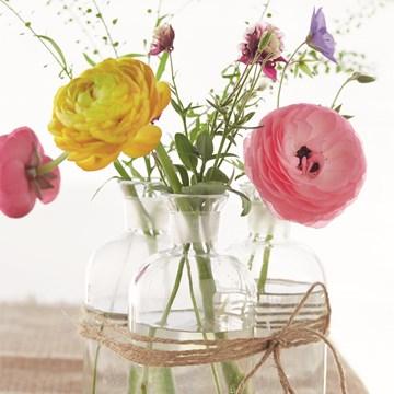 Bedankt kaart - bloemen-in-glazen-vaas