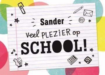 Back to School kaart - back-to-school-veel-plezier-kladblaadje