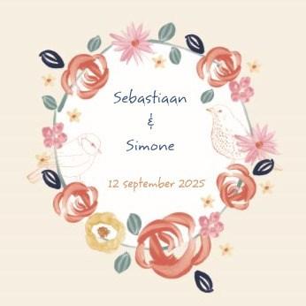 - huwelijk-uitnodiging-geverfde-bloemen