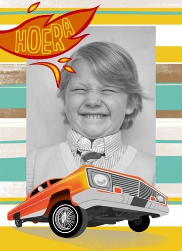 - fotokaart-kids-jongen-stoere-auto