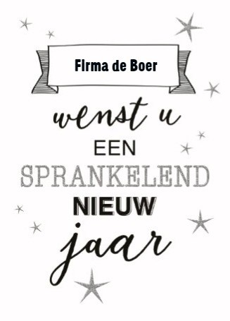 Nieuwjaarskaart - nieuwjaar-zakelijk-wenst-u-een-sprankelend-nieuw-jaar