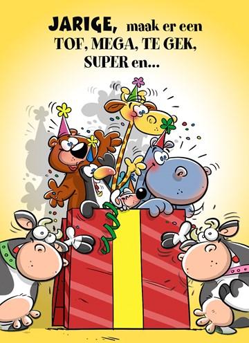 Verjaardagskaart jongens - maak-er-een-tof-mega-te-leuk-leuk-feest-van