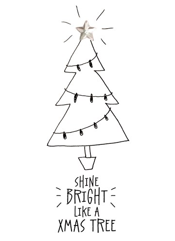 Kerstkaart - kerstkaart-shine-bright-like-a-tree