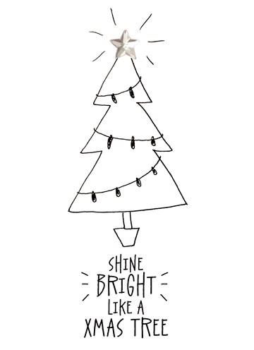 Kerstkaart - kerstkaart-shine-bright-like-a-tree