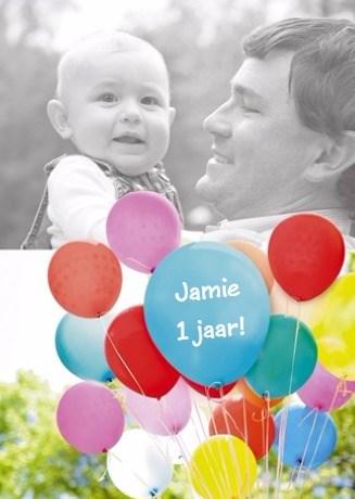Verjaardagskaarten leeftijd - verjaardag-fotokaart-met-heel-veel-ballonnen