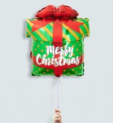 Merry Christmas Cadeau Kerst Ballon