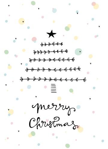 Kerstkaart - merry-christmas-funny-side-up