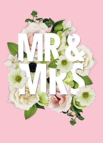 Huwelijkskaart - mr-and-mrs