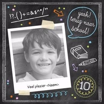 Back to School kaart - yeah-terug-naar-school
