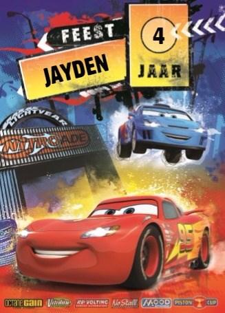 Verjaardagskaarten leeftijd - disney-cars-feest