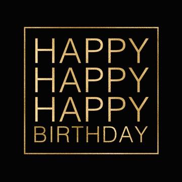 Gold & Fabulous - happy--happy-birthday